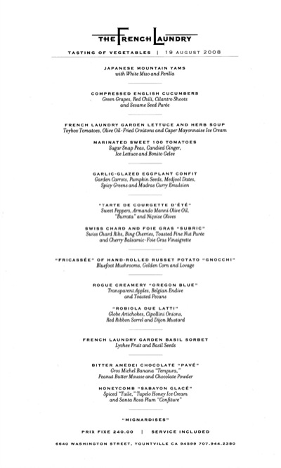 Olive Garden Menu Pdf: Gregory Todd Williams: French Laundry